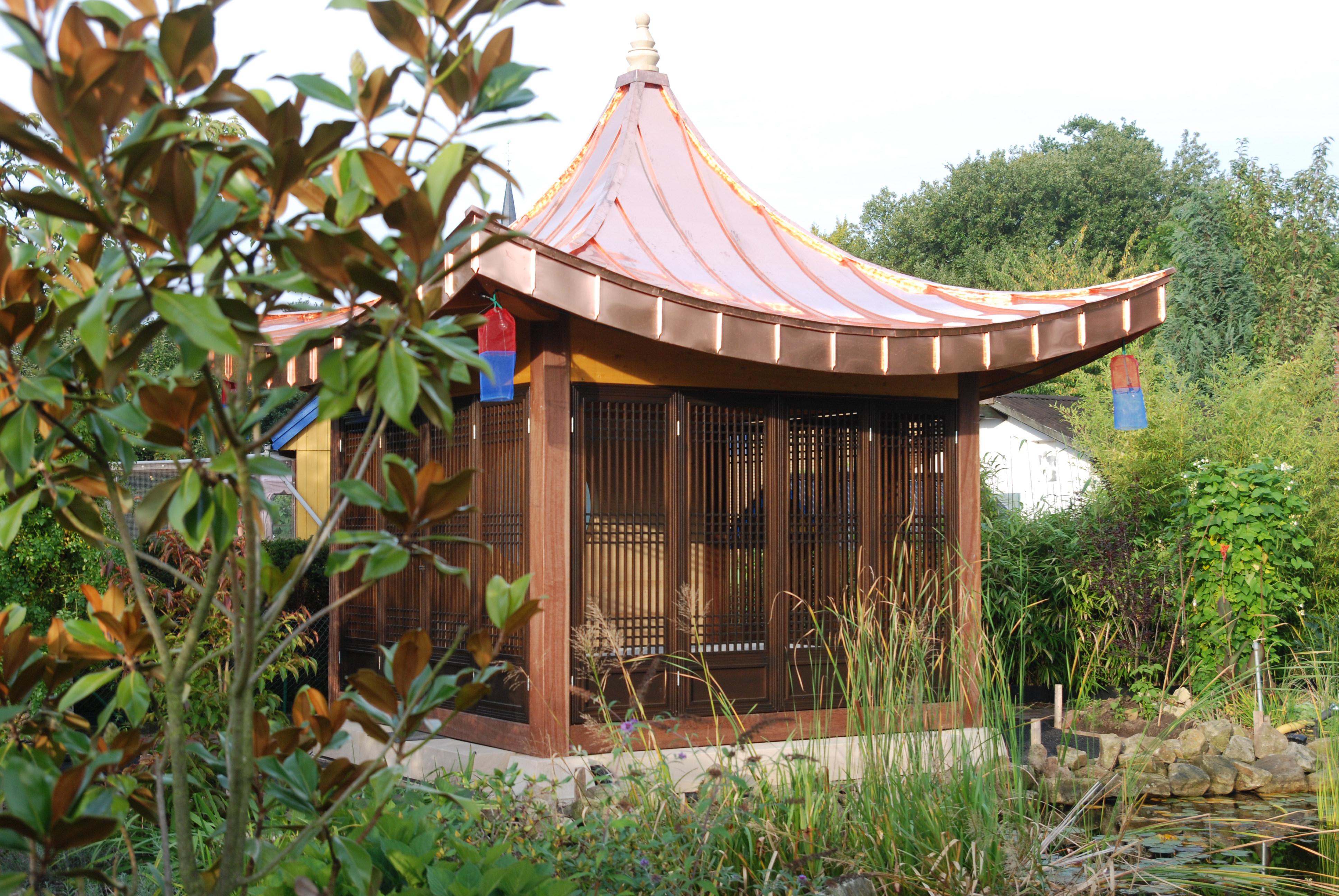 gartenpavillon. Black Bedroom Furniture Sets. Home Design Ideas